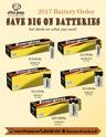 Battery Order Sale