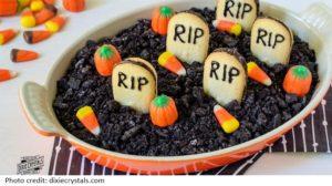 Halloween cheesecake dip